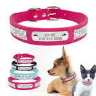 Leather Rhinestone Personalized Pet Dog Collars for Small Me