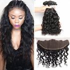 "8A  Brazilian Body Wave Hair Weave 3 Bundles with 13x4"" Lace Frontal Closure"