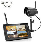 """Outdoor Wireless CCTV DVR Camera Security System 7.0"""" LCD Baby Monitor Recorder New"""