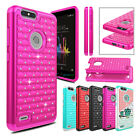 Внешний вид - For ZTE Blade Z Max/ Sequoia/ Z982 Hybrid Shockproof Bling Armor TPU Case Cover