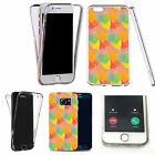 Shockproof 360° Silicone Clear case cover for many mobiles - design ref zx1950