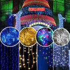 300/600 Led String Fairy Curtain Lights Wedding Christmas Xmas Party Indoor