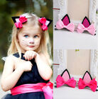 2 Cat Ear Hairpin Toddler Girls Hair Clips for Kids 2 Colors