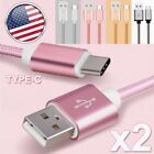 2x USB Type-C Adapter Data Sync Charging Cable for Samsung Galaxy Note 8 FE S8+