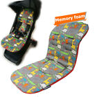 Memory Foam Baby Car Seat Pad Mattress, Stroller Cotton Thick Seat Protection