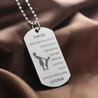 Family Necklace Pendant Jewelry Stainless Steel Father Son Mom Daughter Friend