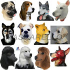 MASCARELLO Halloween Latex Dog Animal Head Mask Husky Wolf Hound Dog Mask