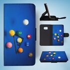 SNOOKER POOL TABLE BALLS 3 FLIP WALLET CASE COVER FOR SAMSUNG GALAXY S7 EDGE $11.65 USD