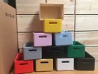 Small Open Wooden Box and Handles 10 Colours or Unpainted 2 Grades Storage Chest