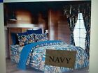 12 PC  NAVY  WOODS  COMFORTER,SHEET AND CURTAIN  SET.   ALL SIZES, 16 COLORS image