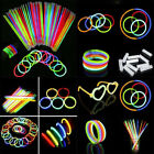 Внешний вид - 100 Pcs Glow Sticks Bracelets Necklaces Fluorescent Neon Party Favors Xmas Gift