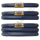 Endless Jewelry Blue Leather Bracelet - Gold Tone Stainless Steel Clasp