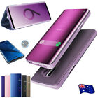 Slim Luxury Clear View Mirror Flip Case Samsung Galaxy Note8 S8 Plus Stand Cover