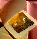 EDIBLE GOLD LEAF LOOSE SHEETS - 24K - 4.33 CM X 4.33 CM - PICK QTY-Food Grade-UK