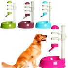 Automatic Pet Water Bottle Feeder Dispenser Food Dish Stand For Cat Dog Drink