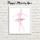Ballet Dancer Personalised Word Art Christmas Birthday Gift Print ANY COLOURS