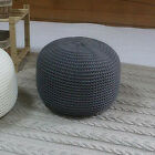 Ottoman Pouf Hand Knitted Round Cushion Floor