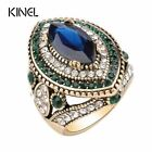 Vintage Jewelry For Women Gold Color Mosaic Green Crystal