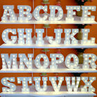 White Wooden Letters Alphabet LED Light UP Standing&Hanging Wedding Party Decor