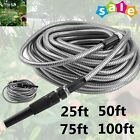 50/75/100ft Flexible Stainless Steel Metal Garden Lightweight Water Hose Pipe MX