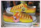 2015 Spongebob Pattern Women Men Hand-painted Canvas Shoes for Girl Boys Sneaker