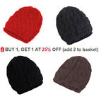 Cable Knit Knitted Ladies Hat Crochet Girls Beanie Womens Hat Cap Hot Winter