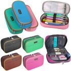 Canvas Pencil Case Large Capacity Pen Box Stationery Pouch M