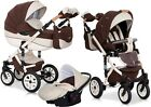 RIKO BRANO ECCO PRAM 3in1 CARRYCOT + PUSH CHAIR + CAR SEAT + EXTRAS !!! <br/> Rain cover+Large diaper bag+Hands warmer+Mosquito net