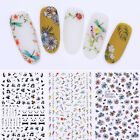 3D Nail Art Stickers Flower Insect Cute Panda Floral Adhesive Decals Manicure