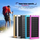 Solar Power Bank Dual USB LED External Battery Pack Charger 75% Conversion Rate