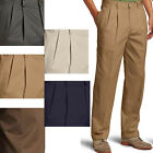 IZOD Mens American Heritage Chino Pleated Front Straight Fit Cuffed Cotton Pants
