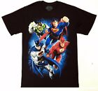 DC Comics JUSTICE LEAGUE Batman, Superman, The Flash, Green Lantern T-Shirt NWT image
