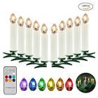 10 Wireless LED Flameless Christmas Tree Battery Candles Light Remote Control