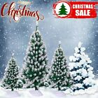 4ft 5ft 6ft Artificial Christmas Tree White Snow Flock Winter Décor w/Stand MA