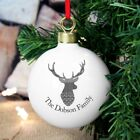 Personalised Highland Stag Bauble. Gift. Family.