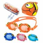 Silicone Swim Cap + Anti-fog Swimming Goggles for Kids Boys Girls