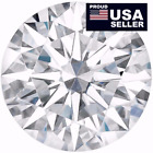 Round Moissanite white,1 to 5 Carat, 100% Genuine, Loose Moissanite diamond