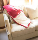 Warm Chunky Knit Solid Blanket Thick Yarn Bulky Bed sofa Throws image