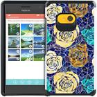 For Nokia Lumia 730 735 Paisley Floral Design Case Hybrid Armor Phone Cover