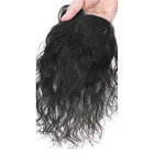 Women Natural Curly Mono Human Hair Clip in Topper Hair Piece For Loss Hair