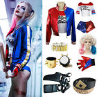 Halloween Costume Harley Quinn T-shirt Jacket Coat &Wigs &Glove Accessory Lot