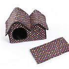 Pet Dog Cat Beds House Portable Warm Puppy Kennels Cave Nest Igloo Pad Cushion M