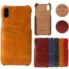 For Apple iPhone X (10) 6s/7/8 Plus Luxury Leather Credit Card Back Case Cover