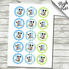 "MICKEY MOUSE 1ST BIRTHDAY 15X 2"" EDIBLE CUPCAKE TOPPERS"