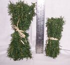 "TREE PINE GREEN BRANCH WIRE STICKS 12 PC.-7"" 10"" 14"" L HOLIDAY-CHRISTMAS -CRAFTS"