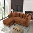 Jumbo Cord Corner Sofas Bed Suites Armchairs a Footstool or 2+3 Seater Swivel