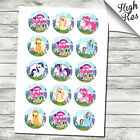"""MY LITTLE PONY 15X 2"""" EDIBLE CUPCAKE TOPPERS - BIRTHDAY"""