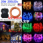 Copper Wire LED String Fairy lights 20M 200 Leds Christmas Wedding Party Decor