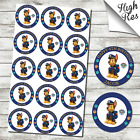 """PAW PATROL CHASE 15X 2"""" CUPCAKE TOPPERS - CAN BE PERSONALISED"""