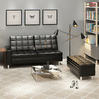 PANANA FAUX LEATHER CORNER SOFA BED RECLINE MODERN LUXYRY DESIGN WITH CUP HOLDER